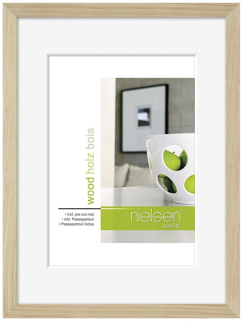 Nielsen Apollo Natural Wood Frame 40 x 50 cm (24 x 30 cm mount) - Trade Frames