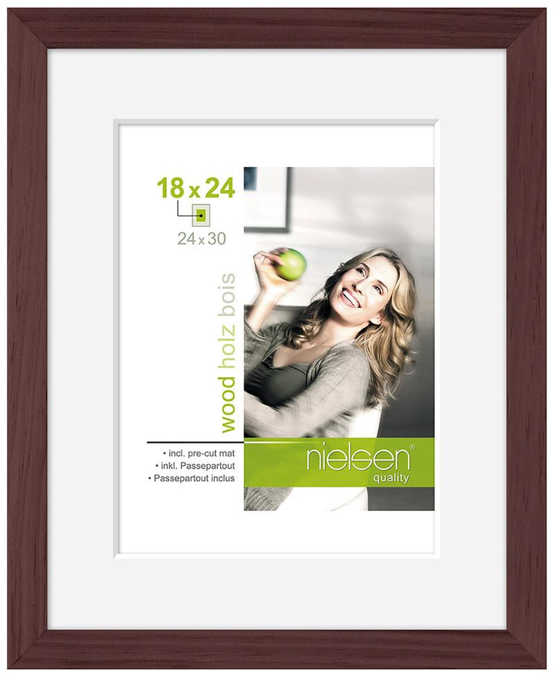 "Nielsen Apollo Wenge Wood Frame 18 x 24 cm (5 x 7"" mount) - Trade Frames"