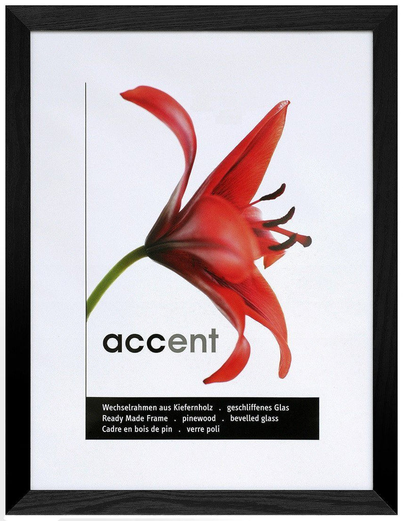 Nielsen Accent Magic 30 x 30 cm Wooden Grained Black Frame - Trade Frames