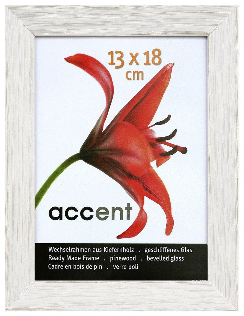 Nielsen Accent Magic 13 x 18 cm Wooden Grained White Frame - Snap Frames
