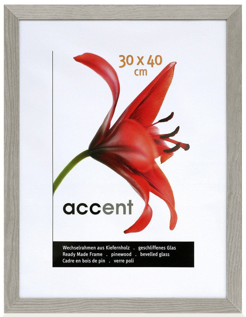 Nielsen Accent Magic 60 x 80 cm Wooden Grained Grey Frame - Trade Frames