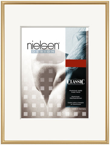 Nielsen Classic A2 Polished Gold Aluminium Poster Frames