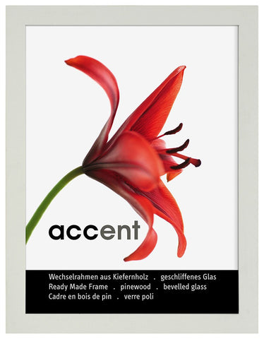 Nielsen Accent White Wooden Frame A4