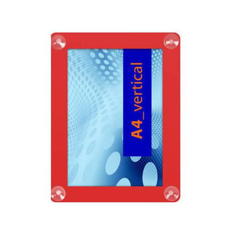 A4 Window Displays Frame Red