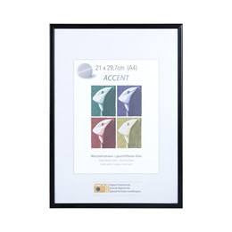 A4 Picture Frame Nielsen Accent Matt Black - Snap Frames