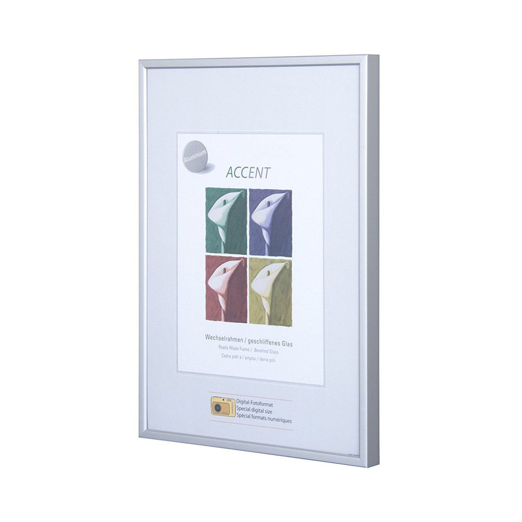 Nielsen Accent Matt Silver A3 Picture Frame with Plastic Glass glazing