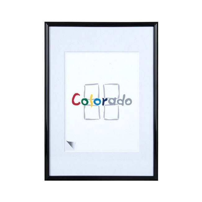 Nielsen Colorado Black A2/ 42 x 59.4 cm Plastic Glass - Snap Frames