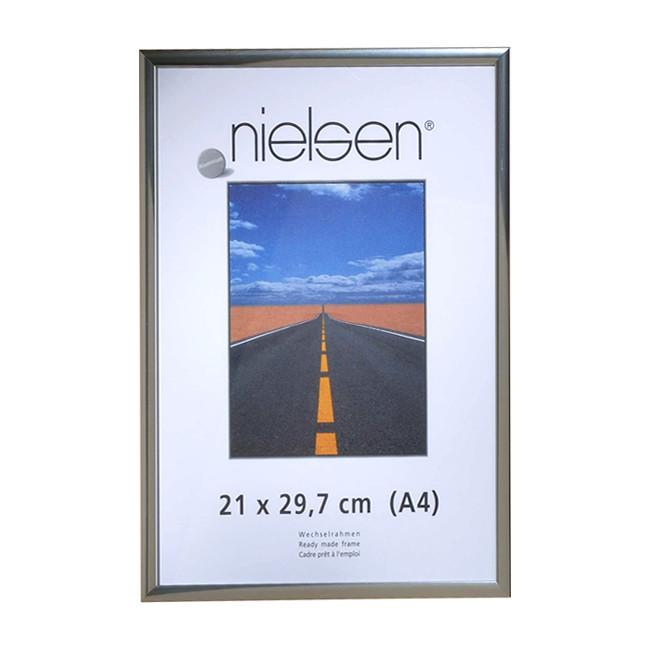 Nielsen Pearl Polished Silver A4/ 21 x 29.7 cm - Snap Frames