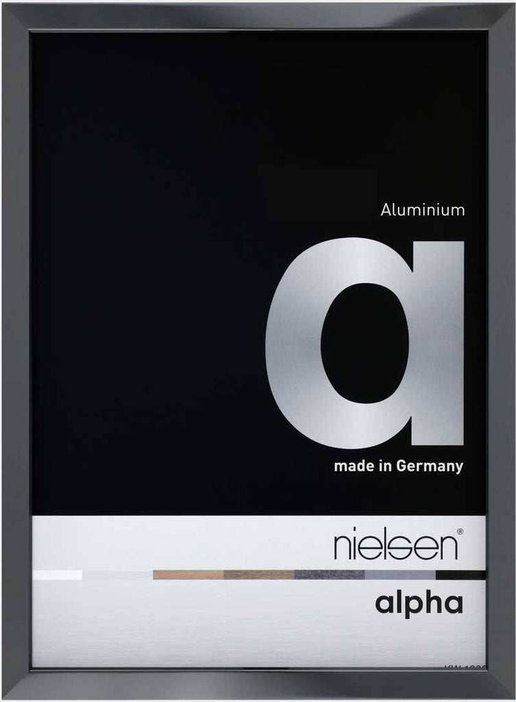 Nielsen Alpha Polished Dark Grey 10 x 15 cm Aluminium Frame - Snap Frames