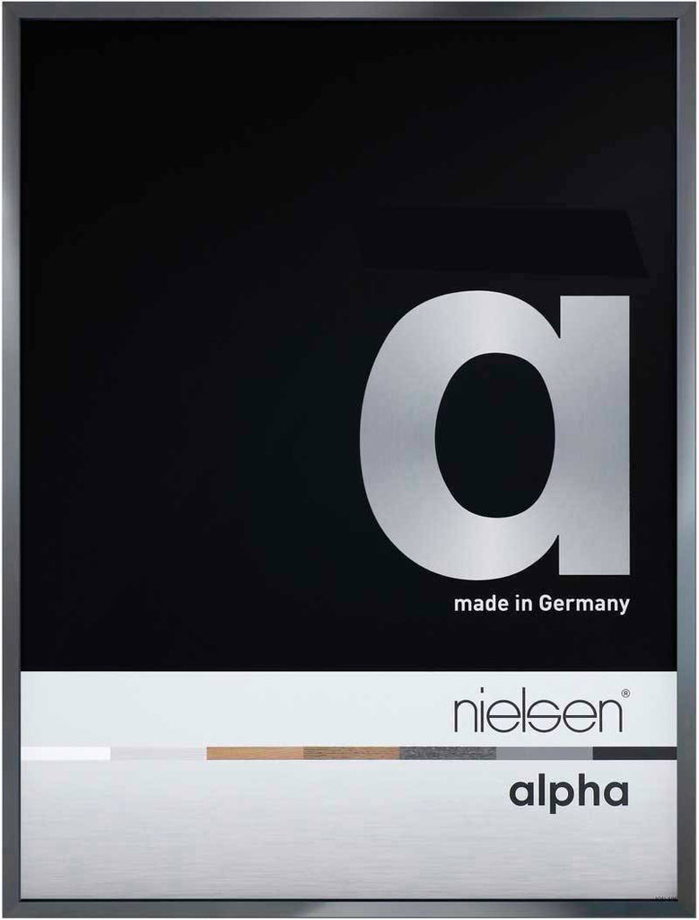 Nielsen Alpha Polished Dark Grey 18 x 24cm Aluminium Frame - Snap Frames