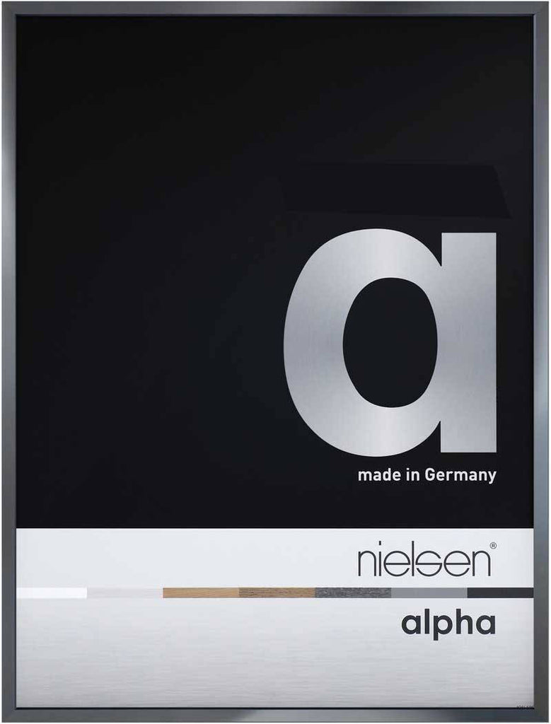 Nielsen Alpha Polished Dark Grey 70 x 100 cm Aluminium Frame - Snap Frames