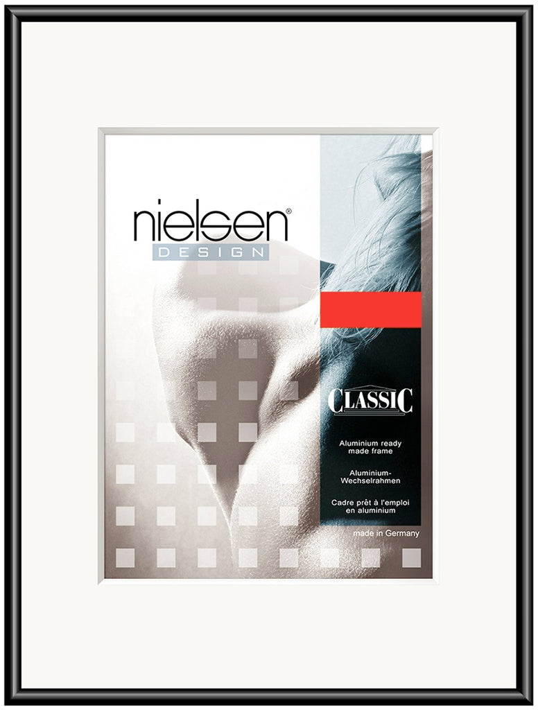 Classic Polished Black 50 x 50 cm SQUARE - Snap Frames