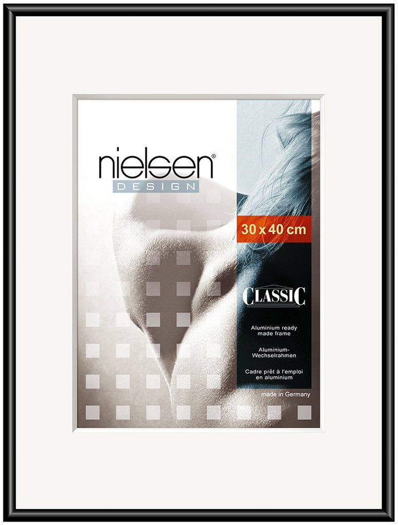 Classic Polished Black 40 x 50 cm - Snap Frames