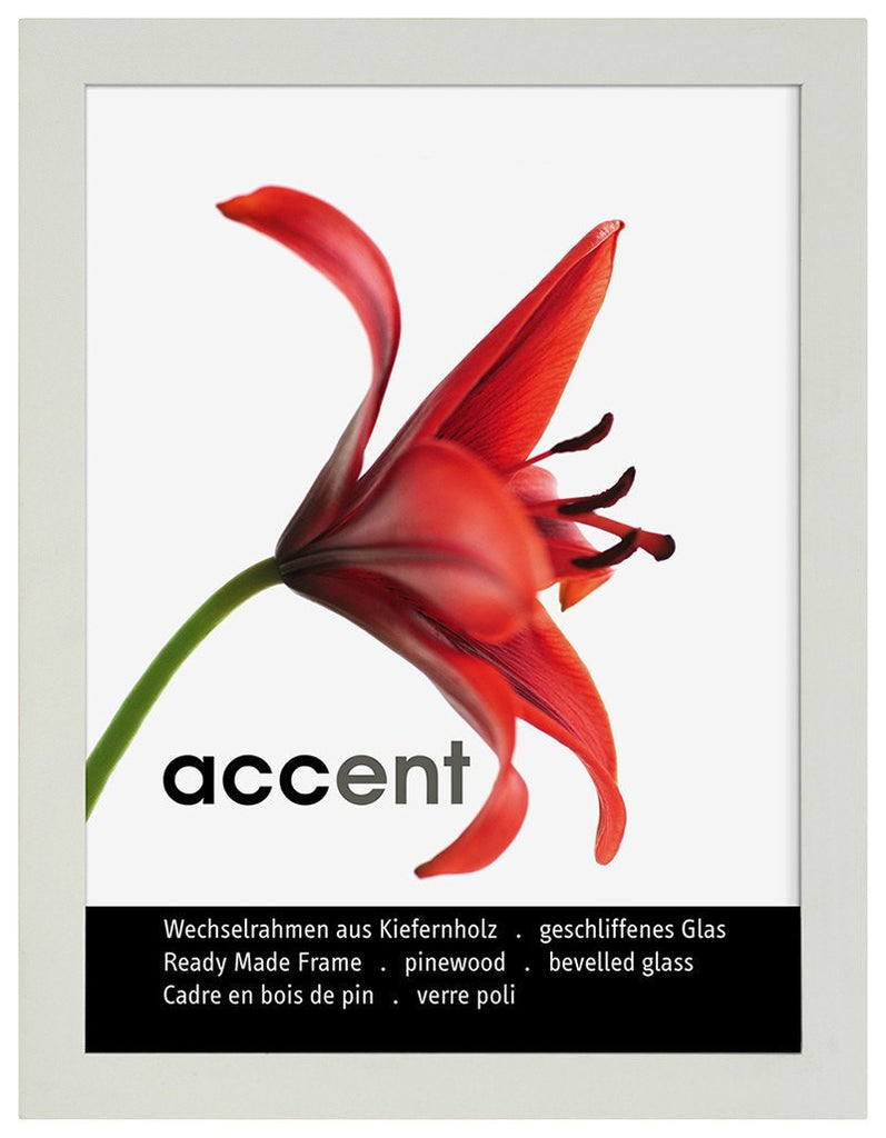 Nielsen Accent Wood White A4/ 21 x 29.7 cm Glass - Snap Frames