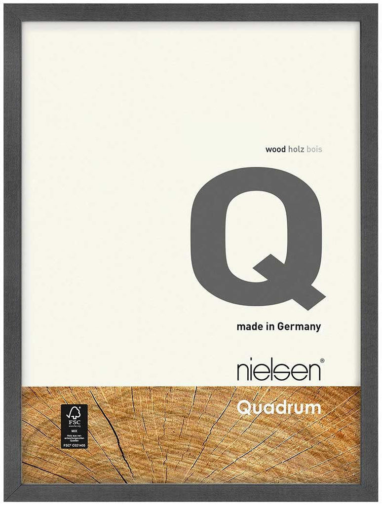Nielsen Quadrum 40 x 50 cm Grey Wood - Natural Glass