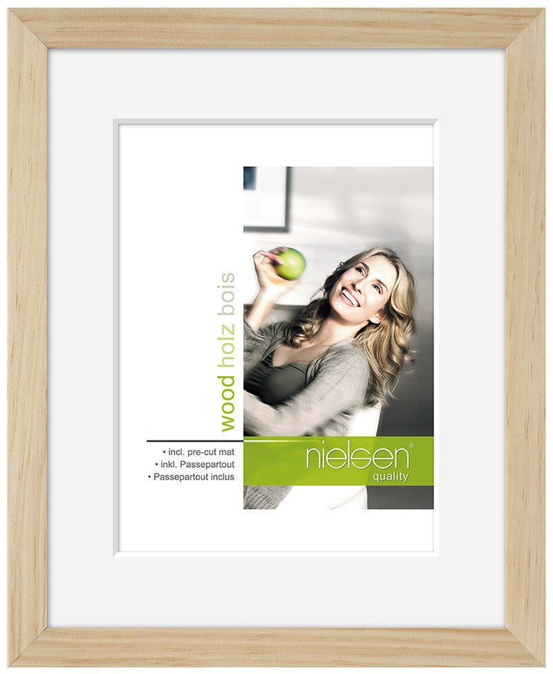 "Nielsen Apollo Natural Wood Frame 13 x 18 cm (4 x 6"" mount) - Snap Frames"