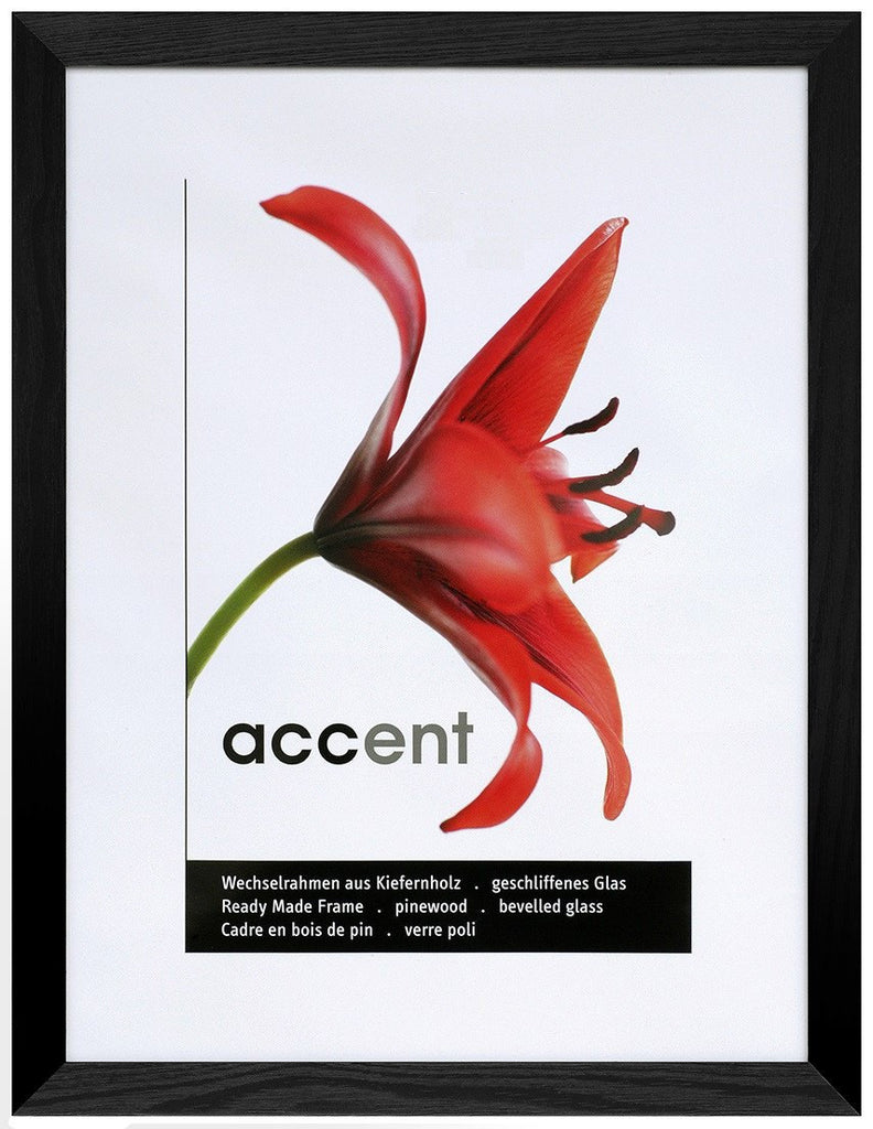 Nielsen Accent Magic 30 x 30 cm Wooden Grained Black Frame - Snap Frames