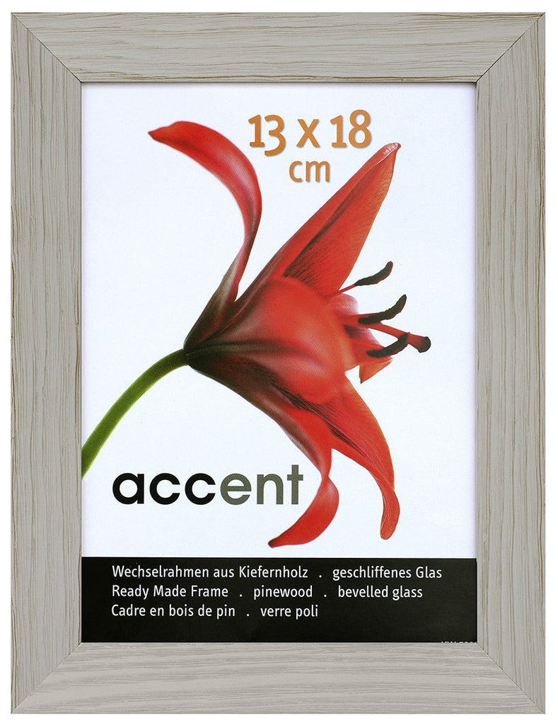 Nielsen Accent Magic 13 x 18 cm Wooden Grained Grey Frame - Snap Frames