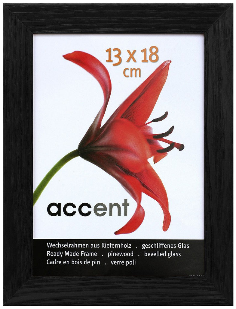 Nielsen Accent Magic 13 x 18 cm Wooden Grained Black Frame - Snap Frames