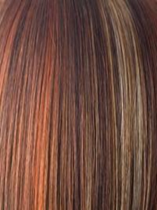 RAZBERRY ICE | Dark Auburn with Medium Auburn Base with Copper and Strawberry Blonde Highlights