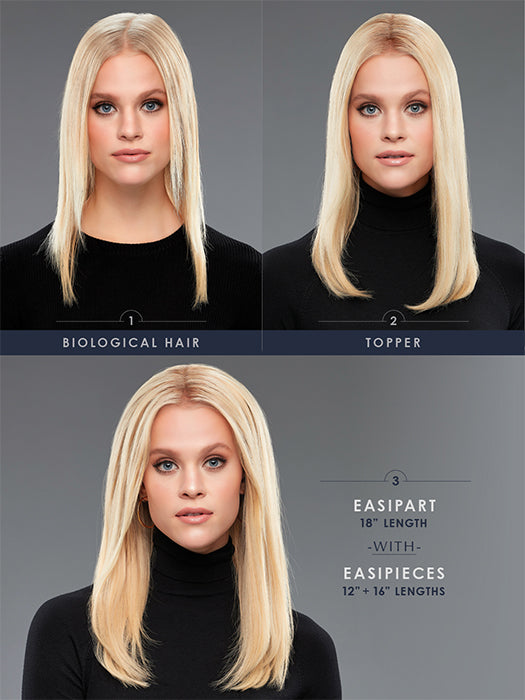 "easiPieces | Remy Human Hair | Hair Piece 16"" Long x 9"" Wide (1 PIECE) by Jon Renau"