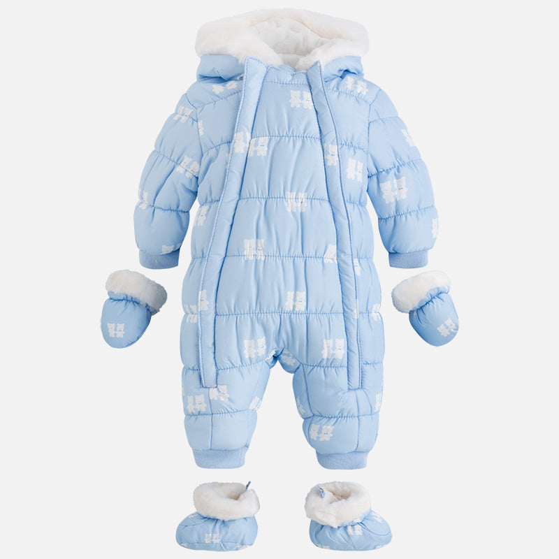 40b2bd196 Mayoral Baby flat-woven and faux fur patterned snowsuit – NolanJones ...
