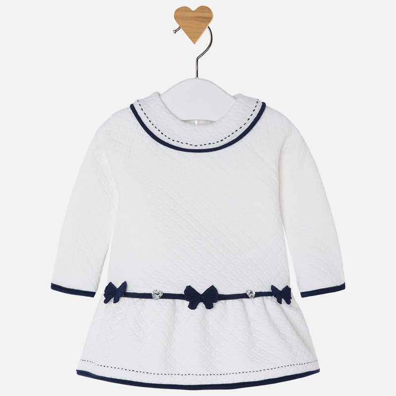 Mayoral Navy & White Baby Girls Dress