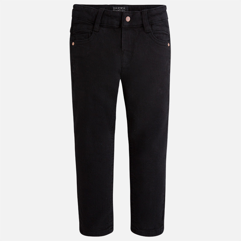 Mayoral boy long black denim twill trousers