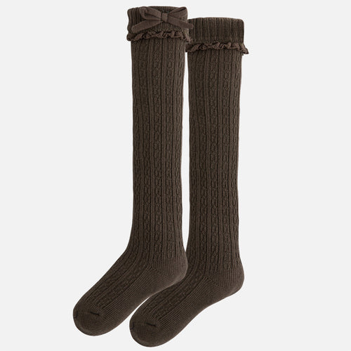 Mayoral Girl knee-high socks with frill