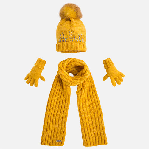 Mayoral Hat Scarf And Glove Set Amber