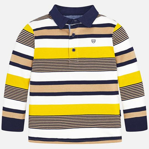 Mayoral Gold Stripes Polo T-Shirt In Stock