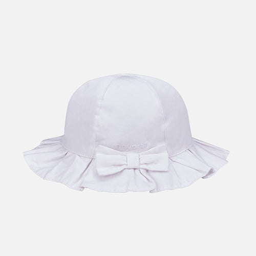 Mayoral Baby Girl Twill Hat White