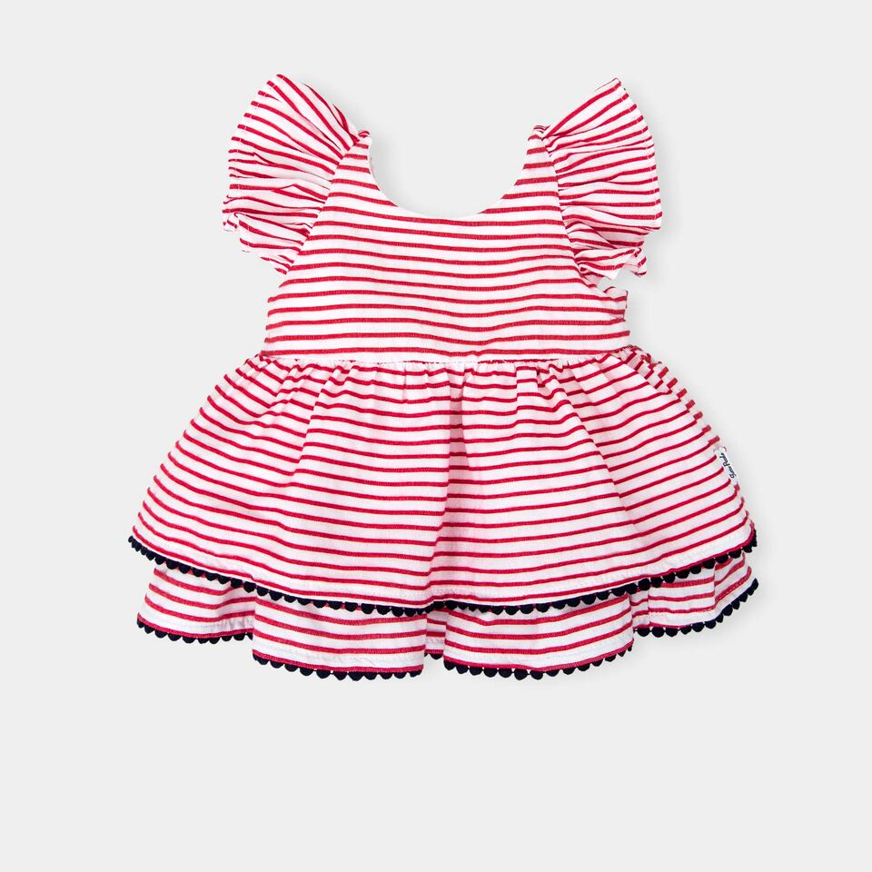 cd52fc5113 Tutto Piccolo Baby Girl Red Stripe Dress With knickers – NolanJones ...