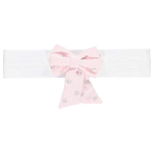 MISTY BABY GIRLS PINK BOW HEADBAND
