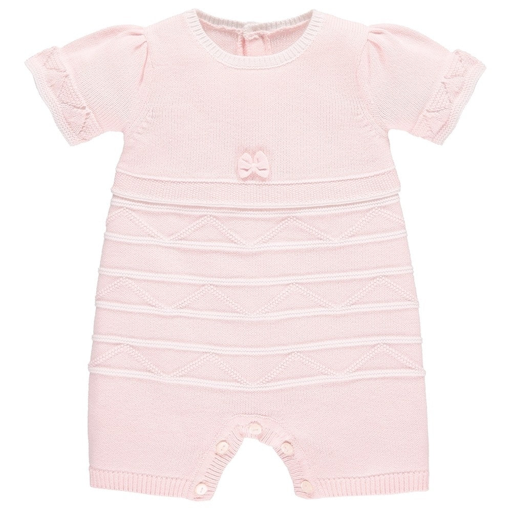 MERCY BABY GIRLS KNIT ROMPER
