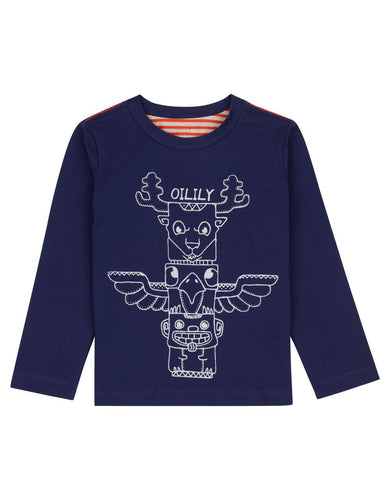 Oilily T-Shirt 59 Navy Totem