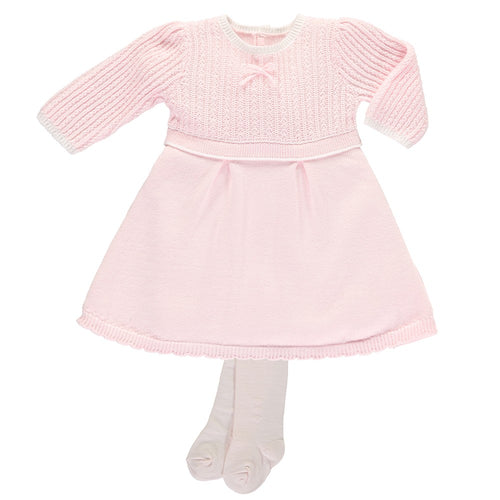Emile Et Rose Pink Cable Knit Baby Girls Dress