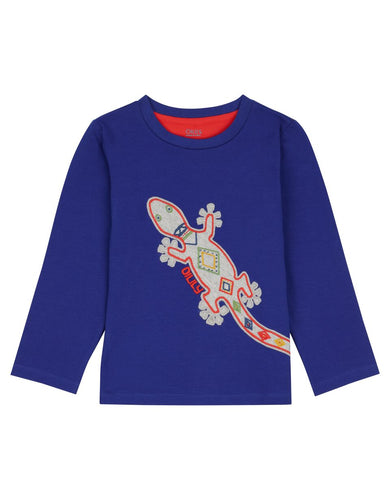 Oilily Boy's Plain Blue Salamander Top In Stock