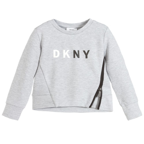DKNY Girl's Grey Jumper