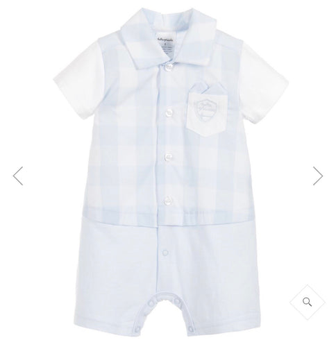 TUTTO PICCOLO Baby Boys Blue Check Shortie