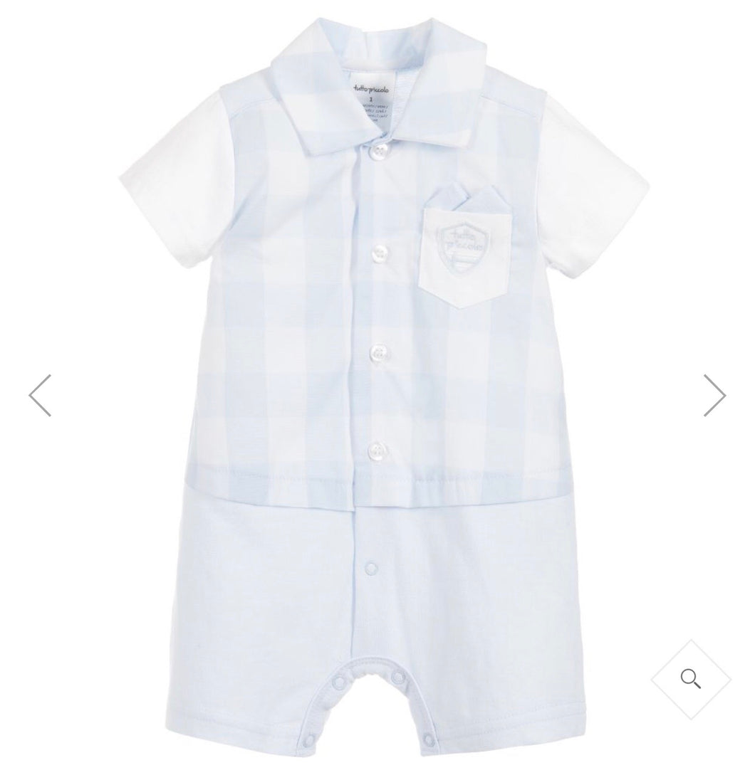 d1447903a73a TUTTO PICCOLO Baby Boys Blue Check Shortie – NolanJones childrenswear