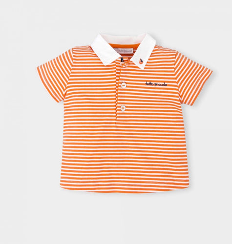 Tutto Piccolo Boys Orange T Shirt Polo