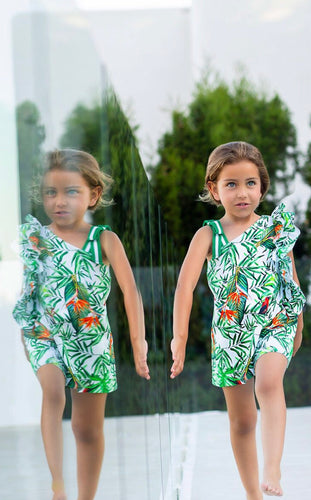 Tutto Piccolo Girls tropical Dress