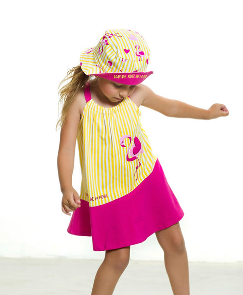 Agatha Ruiz De La Prada Flamingo Swing Dress