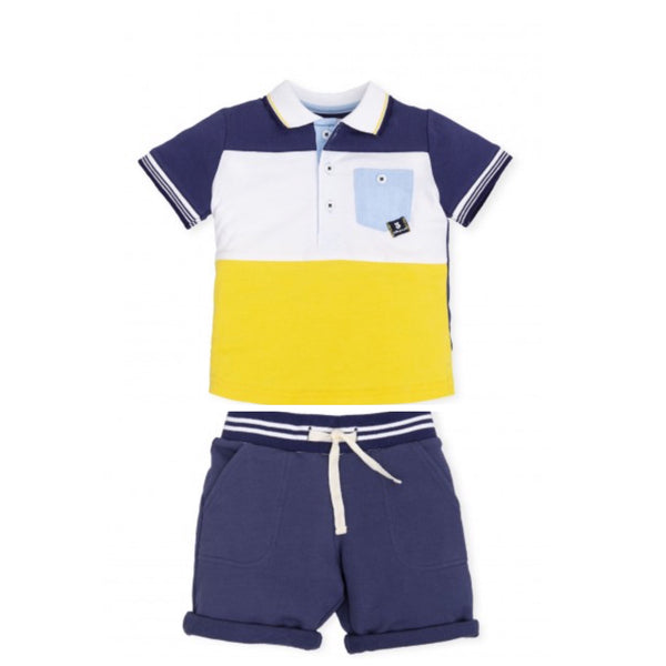 Tutto Piccolo Jogger Shorts and Polo Set