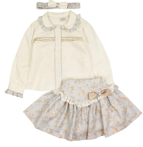 Pretty Originals Pale Blue Skirt and Blouse Set