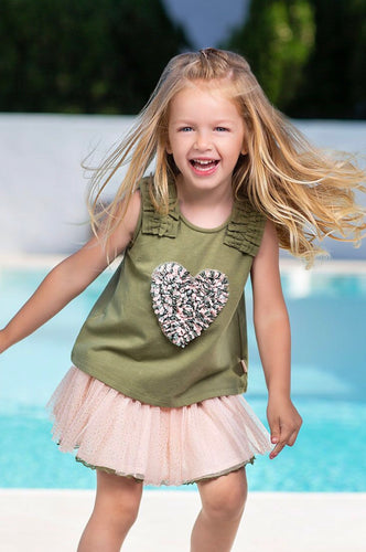 Tutto Picolo Girls Skirt and Top Set