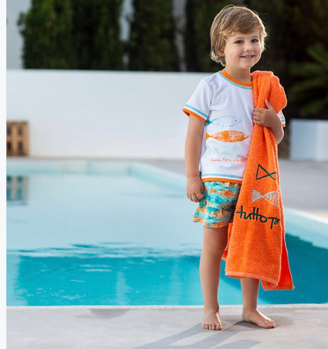 Tutto Piccolo Boys Tropical Fish Short Set
