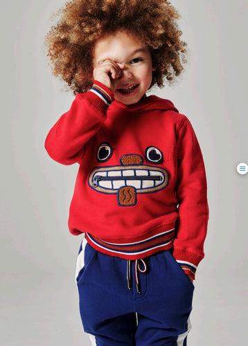 Oilily Boys Hooded Smile Face Tracksuit With Zip Detail