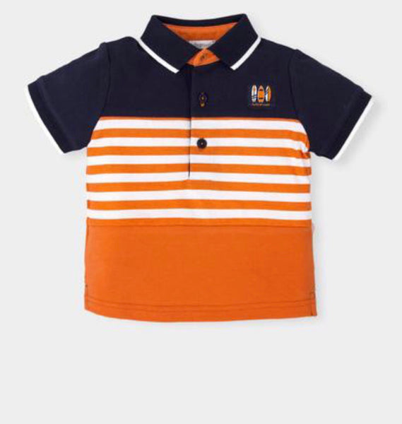 Tutto Piccolo Boys Orange & Navy Shorts Set
